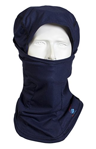 National Safety Apparel H92FK FR Control 2.0 Flame Resistant Ninja Balaclava, One Size, Navy