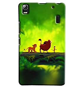 Blue Throat Jungle Book Characters Printed Designer Back Cover/ Case For Lenovo A7000