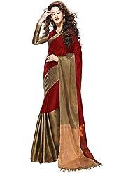 Kesar Fashion Women Cotton Silk Saree(KR_red_beauty)