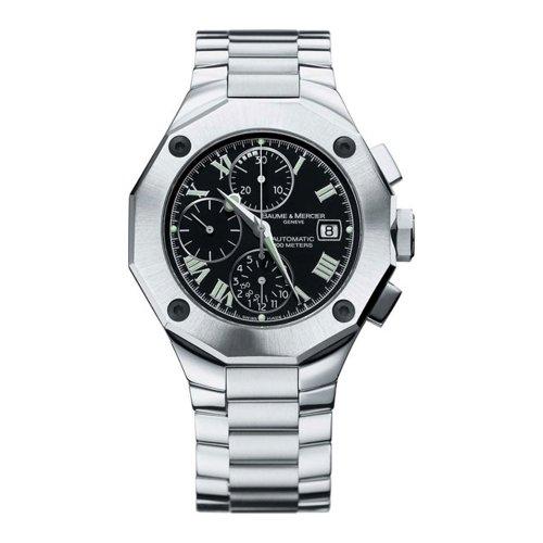 Baume & Mercier Men's 8669 Riviera Black Chronograph Watch