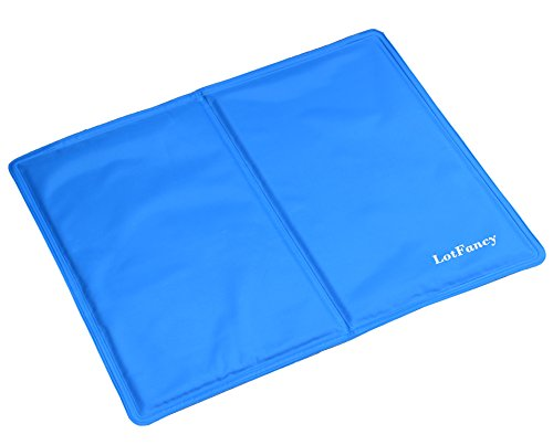 LotFancy Pet Dog Cool Pad Gel Mat for Dogs Cats Beds Crates Kennels, in Car or at Home,Self-Cooling (15.7 x 19.6 Inch)