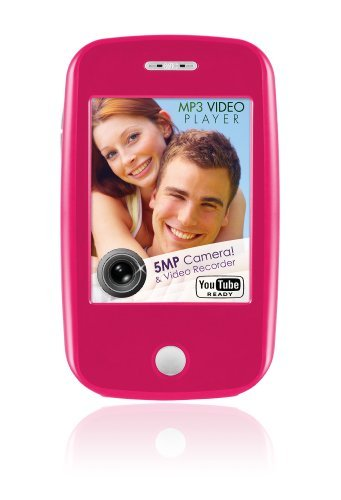 Ematic EM604VIDHP 3-Inch Touch Screen 4 GB MP3 Video Player with Built-In 5MP Digital Camera (Hot Pink)