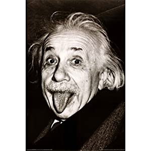 Einstein - Tongue by unknown. Size 24.00 X 36.00 Art Poster Print