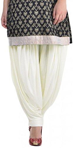 Sohniye Women's Viscose Patiala [GAKP12_Off-White_Free Size] (multicolor)