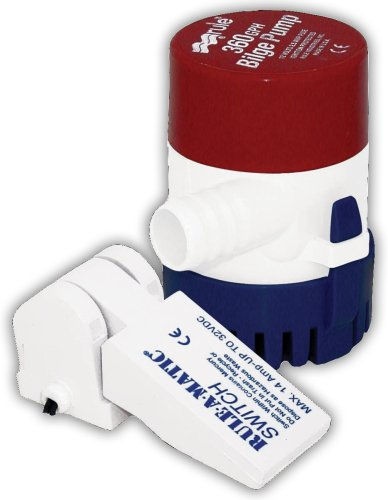 Rule 24-35A Marine Rule 360 Marine Bilge Pump with Mercury Free Rule-A-Matic Float Switch (360-GPH, 12-Volt)