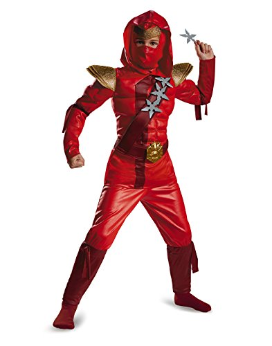 Red Fire Ninja Muscle Kids Costume