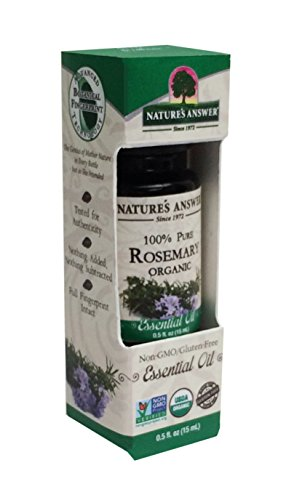 Nature's Answer 100 Percent Pure Organic, Rosemary Essential Oil, 0.50 Ounce