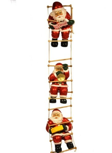 Santa'S Claus Playing On The Ladder front-223001