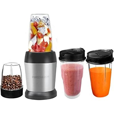 Farberware Single Serve Stainless Steel Performance Blender with 2 20 Oz AS Jars and Travel Lid