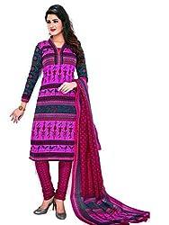 AMP IMPEX EthnicwearWomen's Dress Material(KOMALSPL6022_Pink_Free Size)