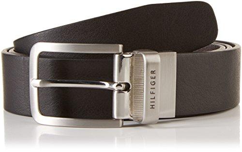 Tommy Hilfiger REVERSIBLE BELT-Cintura Uomo    Mehrfarbig (BLACK/TESTA DI MORO-EUR 990) 110 cm