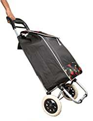 Vegetable & Fruit Folding Shopping Trolley Bag With Wheels (Black)