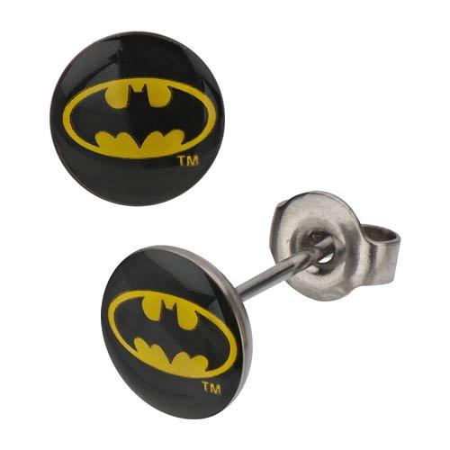 Batman Logo Black Stud Earrings - 1