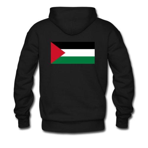Spreadshirt, Flag Palestine (dd), Men's Hoodie, black, M