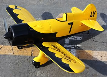Brand New 4 Channel RC EP 26 Aerobatic Geebee Scale Remote Control Plane (Yellow) Cheap