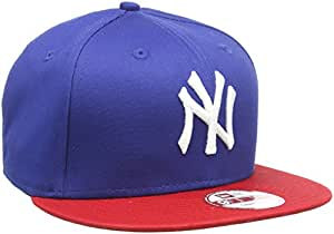 New era bonnet pour adulte casquette de baseball mLB 9 fifty block nY yankees casquette S/M Bleu - Light Royal/Scarlet