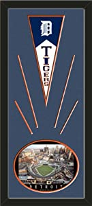 Detroit Tigers Wool Felt Mini Pennant & Comerica Park, First Night Gameo Photo -... by Art and More, Davenport, IA