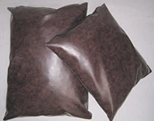 "Faux Leather Pet Dog Cat Bed Bean Bag Cushion Antique Brown 24"" x 28"" by Sold By Hallways"