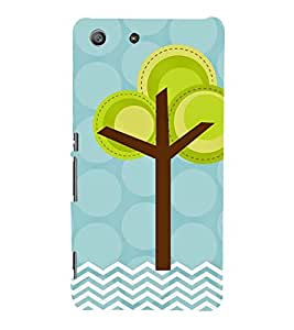 animated tree in polka dot and stripes pattern 3D Hard Polycarbonate Designer Back Case Cover for Sony Xperia SP :: Sony Xperia SP M35h