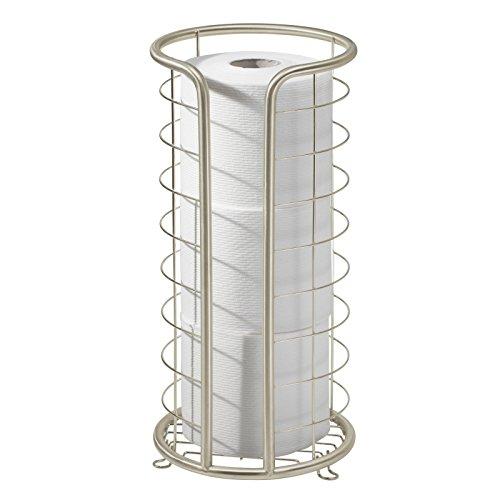 Support de papier-toilette auto-portant, mDesign, pour salle de bains - Satin