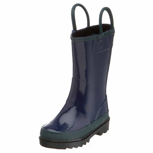 Western Chief Fire Chief Rain Boot (Toddler/Little Kid/Big Kid),Navy,11 M Us Little Kid back-829357