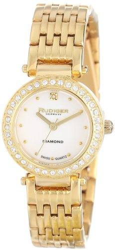 Rudiger Women's R2500-02-009 Essen Yellow Gold Ion-Plated Stainless Steel Diamond Accent Watch
