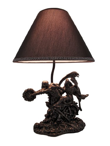 `Death Rides a Chopper` Grim Reaper Skeleton Motorcycle Table Lamp