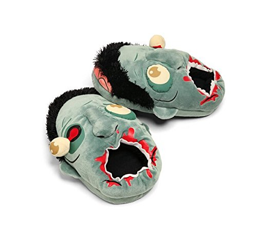 Halloween Wacky Zombie Plush Slippers (One size fits most)