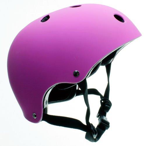 SFR Essentials Casque Matt fluorescent Violet du Skate/BMX/Trotinette XXS-XS