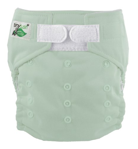 Tiny Tush Elite 2.0 Baby Diaper, Sage, One-Size front-1056251
