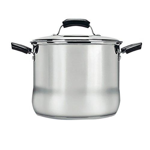 Rangekleen Home Kitchen Gadgets Cooking Utensils Basic Stock Pot 8 qt. w/ lid