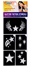 Stars Glitter Tattoo Stencil Set Party Accessory