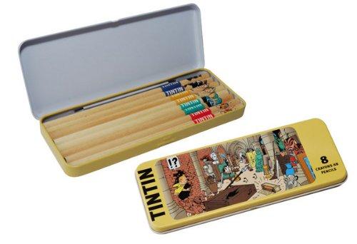 Moulinsart Tintin The Secret of The Unicorn Pencil Set