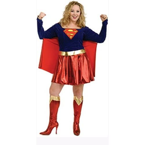 DC Comics Secret Wishes Supergirl Plus Size Adult Costume