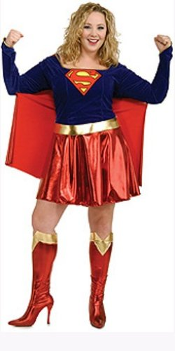 Ladies Supergirl Costumes. Plus Size 14 to 16