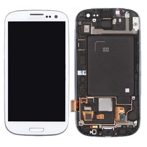 Compatible With Galaxy S3 I535 R530 Lcd + Touch Screen Digitizer With Frame - White - Grade B - Allrepairparts Usa Seller