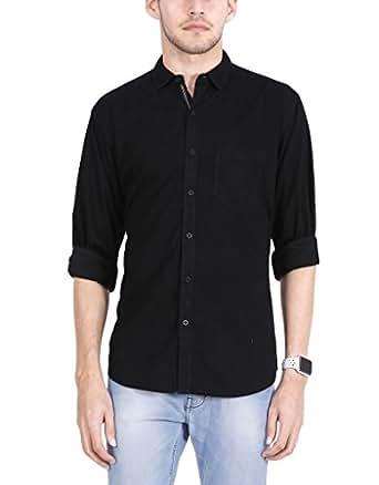 Sleek line men 39 s semi spread collar cotton shirt amazon for Semi spread collar shirt