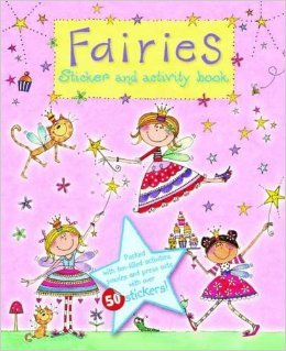 "FAIRIES Sticker & Fun-Filled Activity Book! Dot to Dots, Mazes! Puzzles! 11"" X 8"" 18 High Quality Pages (2 of 50+ Stickers!!) - 1"