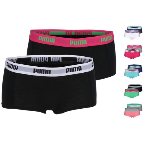 PUMA Women Basic Mini Short 2er Pack