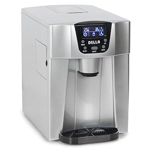 Della 2-in-1 Water Dispenser w/ Built-In Ice Maker Freestanding Machine, 2-Size Cube (26lb per Day) -Silver (Indoor Ice Maker compare prices)