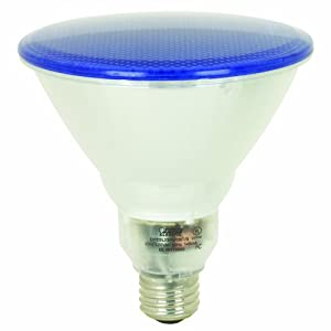 Feit Electric BPESL23PAR38T/B 20-Watt PAR 38 Outdoor Compact Fluorescent Light Bulb, Blue