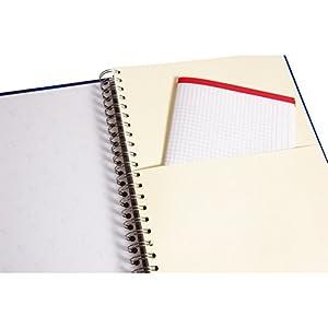 CLAIREFONTAINE Bind'O Block 22,5x29,7 240p Q.5x5 cadré + 1 pochette 4 couleurs de bandes perfo. 4 t