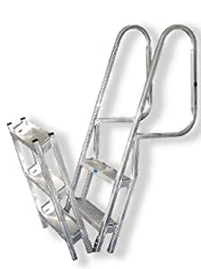 Amazon Com The Aluminum Hinged Dock Boat Ladder Is
