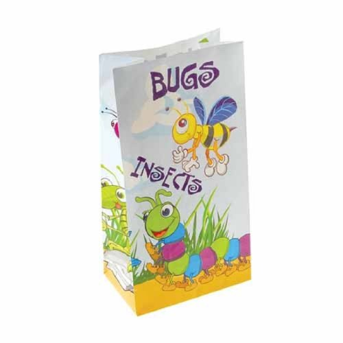 Dozen Paper White Bug & Insect Theme Gift Party Bags