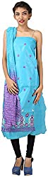 Hardy's Style Women's Cotton Silk Dress Material (HS-34, Blue)
