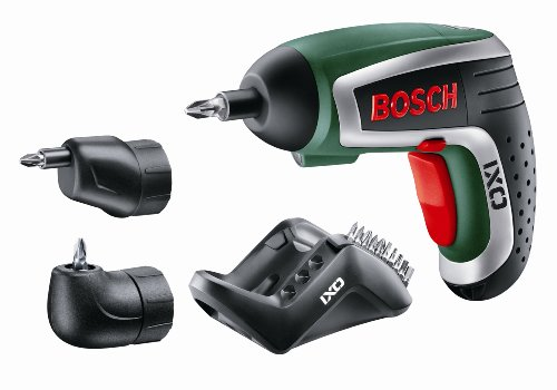 Bosch IXO Cordless Lithium-Ion Screwdriver with Right Angle Adapter and Easy-Reach Adapter
