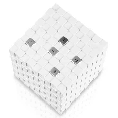Tayogo Magic Cube Rechargeable Portable Bluetooth Wireless Speaker With 3.5Mm Audio Port For Iphones, Ipads, Android Cell Phones, Touch Screen Tablets, Macbooks, Laptop Computers, Mp3 Players & Portable Cd/Dvd Players (White)