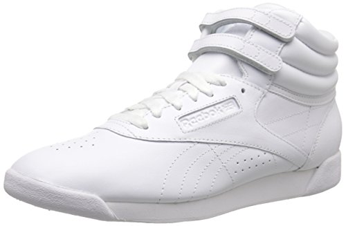 Reebok Women's Freestyle Hi Lace-up Fashion Sneaker,White/White/White,6 M US (Reebok High Top Shoes compare prices)