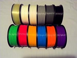 Filament Outlet Random Color ABS 1.75mm 3D Printer Filament 1kg (2.2lbs) spool USA *Read Description* by Filament Outlet