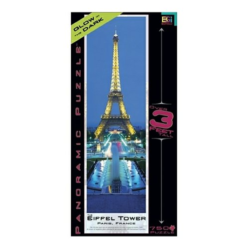 Cheap Fun Buffalo Games Worldscapes Panoramic Eiffel Tower Glow in the Dark 765 Piece Jigsaw Puzzle (B000BKY7KI)